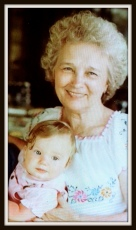 Grammy with me on a trip to Florida in 1982