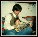 My dad with his first born, my brother Matt