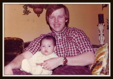 Uncle Mike with his first of two daughters, my cousin Michelle