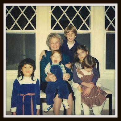 Grammy with her first 5 grandchildren
