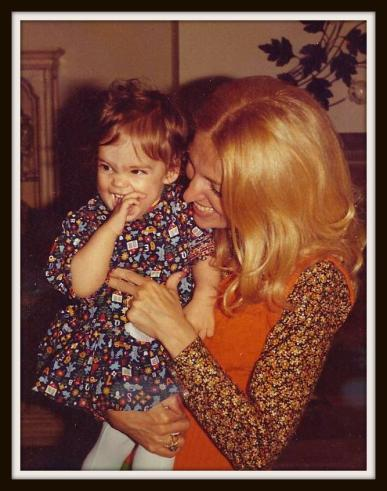 Her first daughter Sandy, with her daughter Jessica