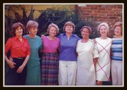 Third from the left, Grammy, and her sisters.
