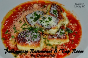 A meal described as the cheese part of ravioli without the confinement of the pasta. Yum!